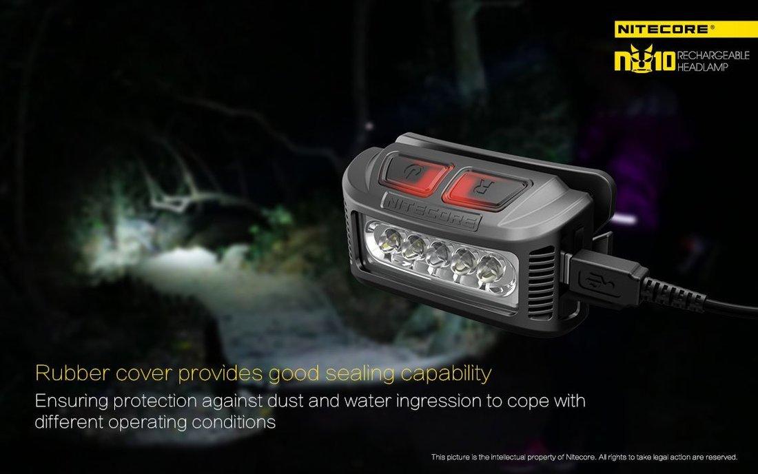 Nitecore NU10 LED Fejlámpa 160 lumen