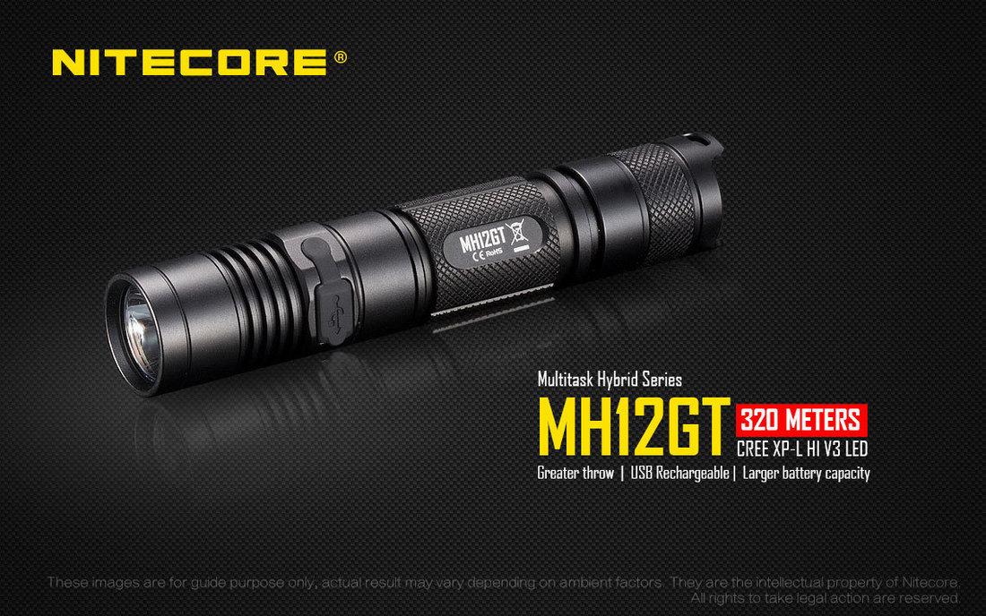 Nitecore MH12GT LED Elemlámpa 1000 lumen