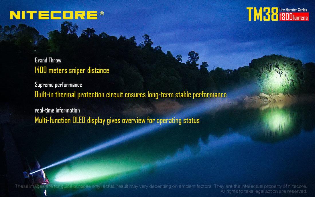 Nitecore TM38 LED Elemlámpa 1800 lumen