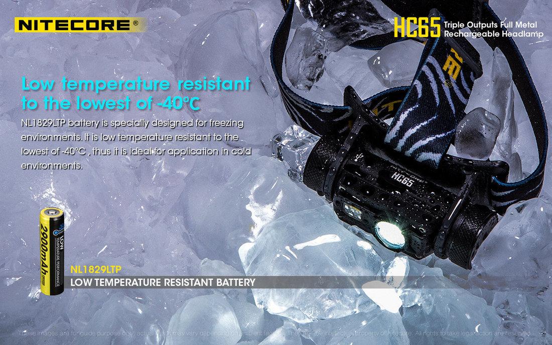 Nitecore Fejlámpa HC65 Akkumulátoros USB (tartozék) CREE XM-L2 U2 (1000 lumen)