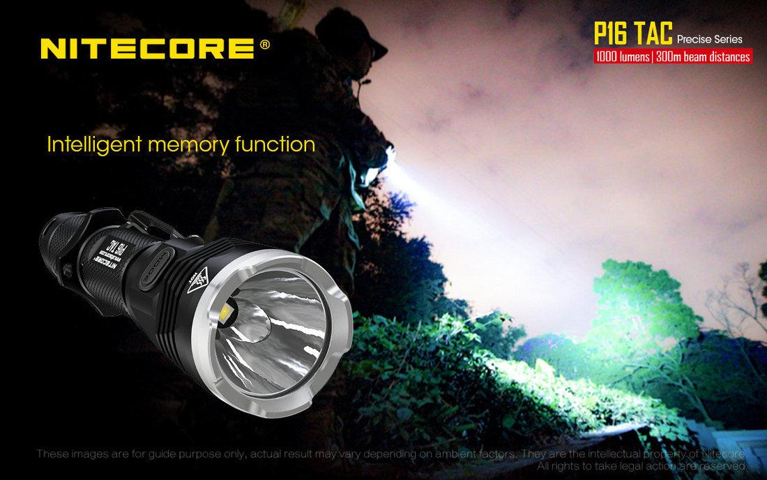 Nitecore P16TAC LED Elemlámpa 1000 lumen