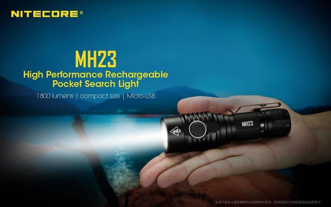 Nitecore Elemlámpa MH23 (1x18650) CREE XHP 35 HD (1800 lumen)