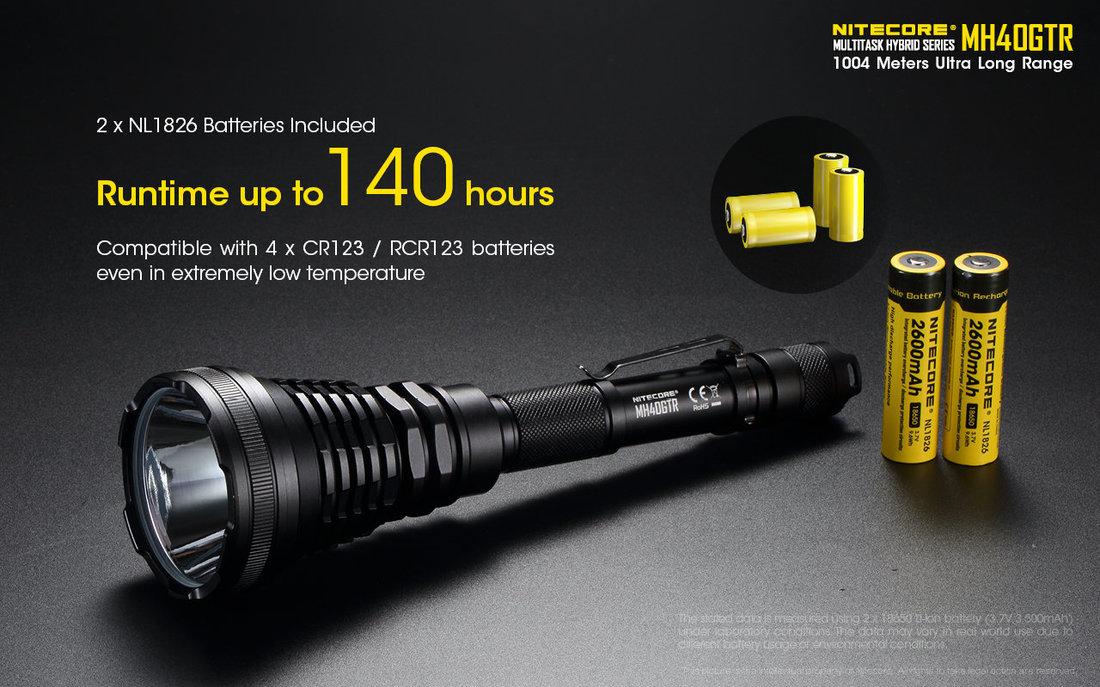 Nitecore Elemlámpa MH40GTR (1x18650) CREE XP-L HI V3 (1200 lumen)