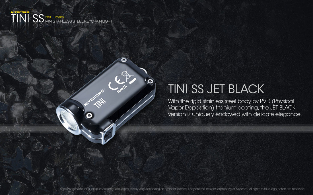 Nitecore Elemlámpa TINI SS CREE XP-G2 S3 (380 lumen)
