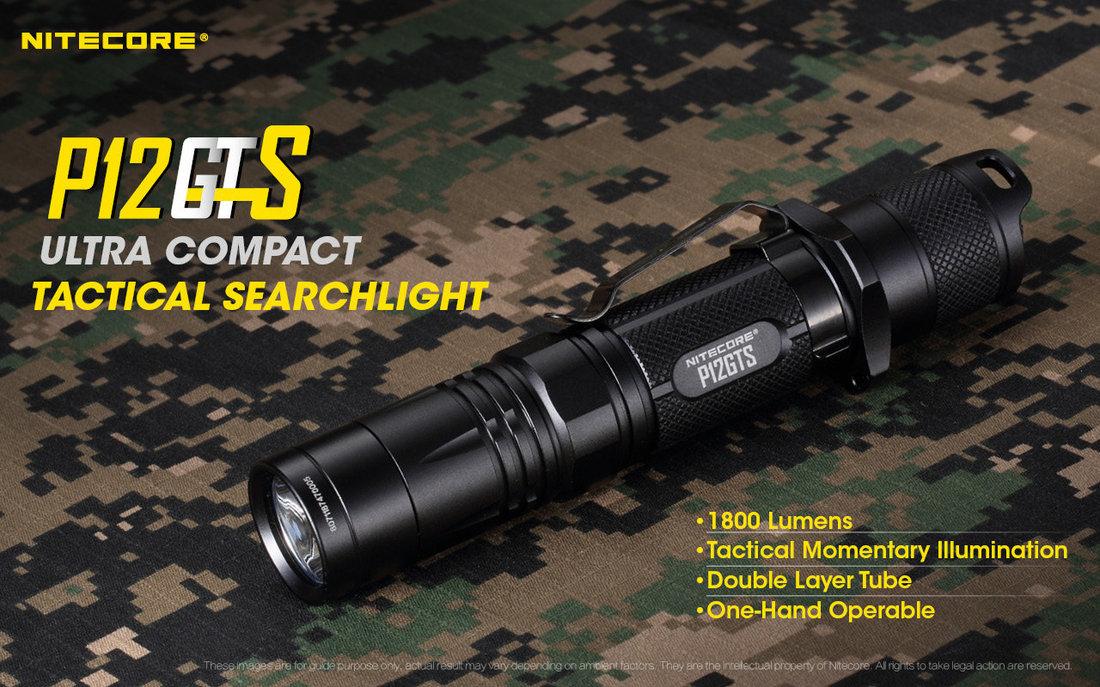 Nitecore Elemlámpa P12GTS (1x18650) CREE XHP35 HD (1800 lumen)