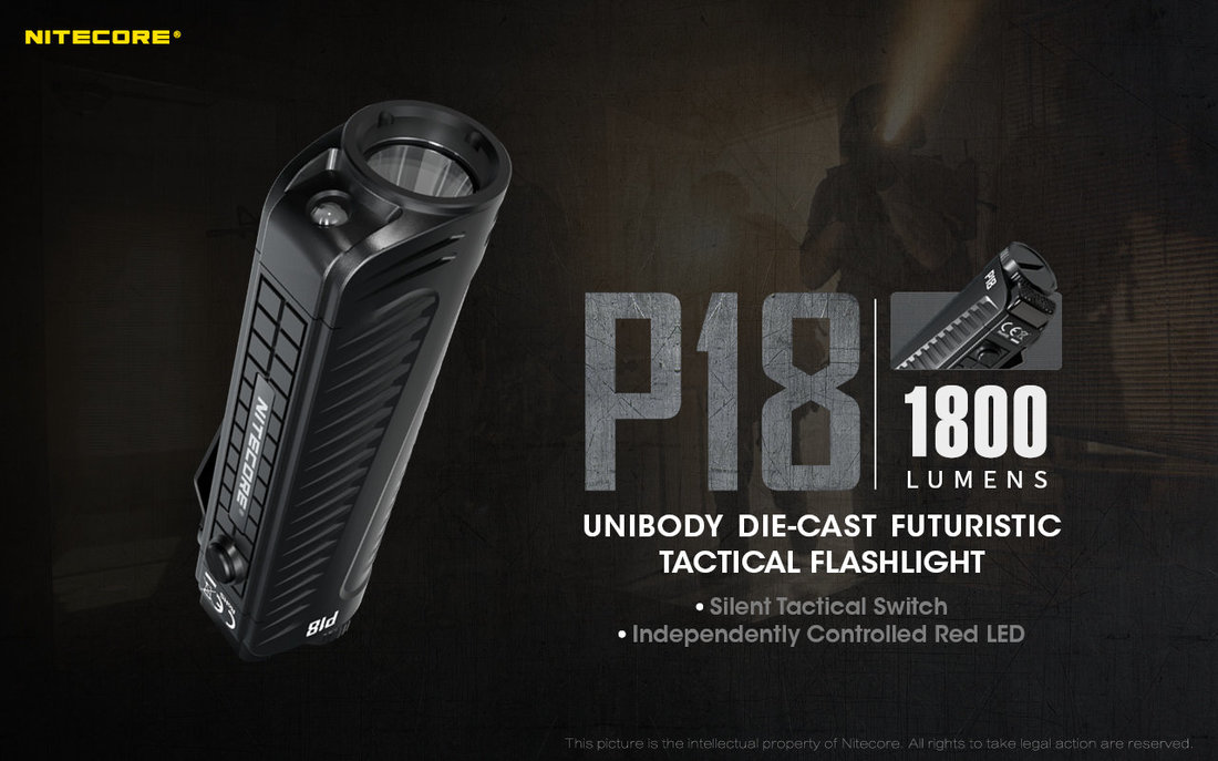 Nitecore Elemlámpa P18 (1x18650) CREE XHP35 HD (1800 lumen)