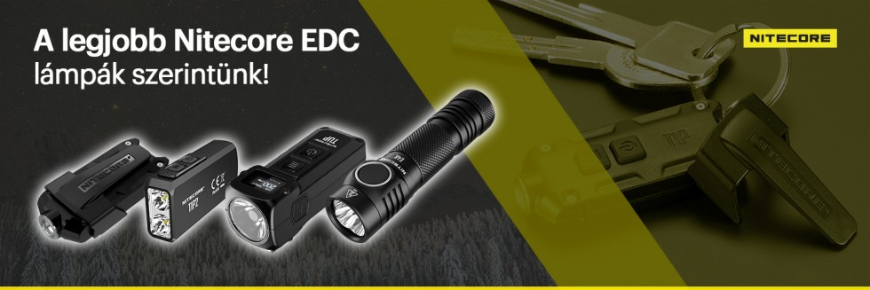 A legjobb Nitecore EDC lámpák szerintünk!